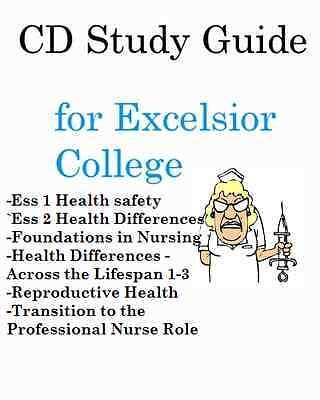 Excelsior College NURSING Study Guide Bundle 8 STUDY GUIDES w Practice Exams