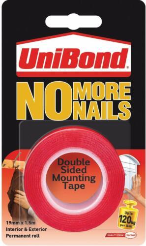 Unibond No más clavos cuadro colgado Tiras De Adhesivo de Cinta de montaje de doble cara