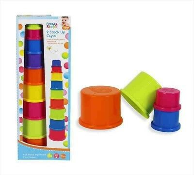 Other Toys For Baby First Steps Baby 9 Stack Up Cups Stacking Tower Toy Bringing More Convenience To The People In Their Daily Life Toys For Baby