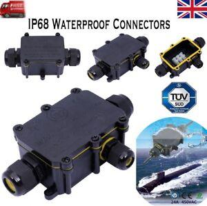 Boîte de jonction étanche Extérieur Connecteur de Câble IP68 2//3//4 Way 2 broches Junction UK