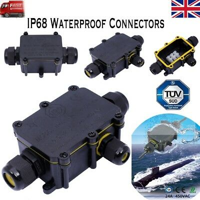 2/3way Waterproof Electrical Junction Box Cable Connector Wire Ip68/ip66 Outdoor Angemessener Preis