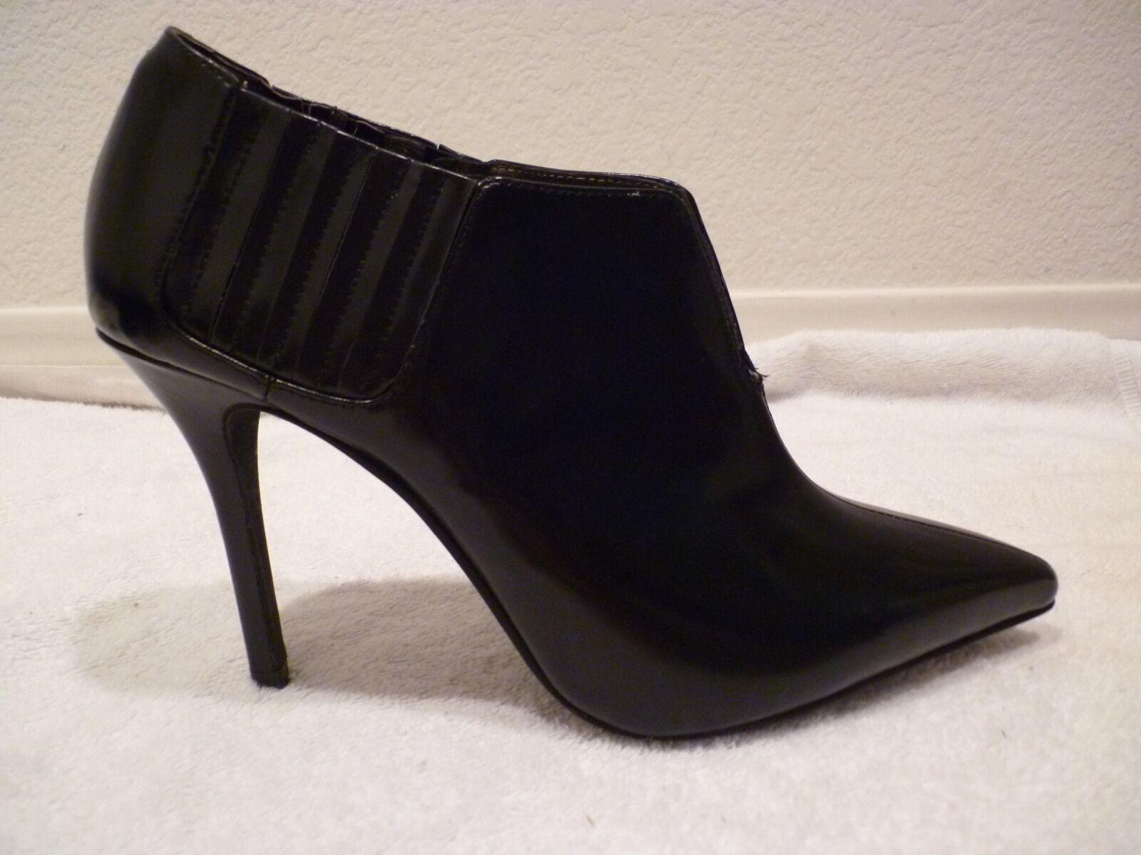 Vintage Jeffrey Campbell Noir Pointu Talon Chaussures Taille 8.5-NEW