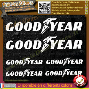 6-Stickers-Autocollant-Goodyear-sponsor-echappement-lot-planche-sticker-decal
