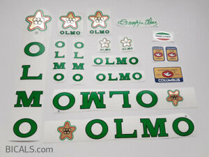 OLMO V1 yellow decal set sticker complete bicycle FREE SHIPPING