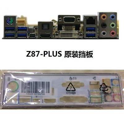 1Pcs original ASUS I//O IO SHIELD for Z87-PLUS  backplate #G952 XH