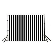 7X5FT Vinyl Black White Stripes Photograph​y Backdrops Background Studio Props