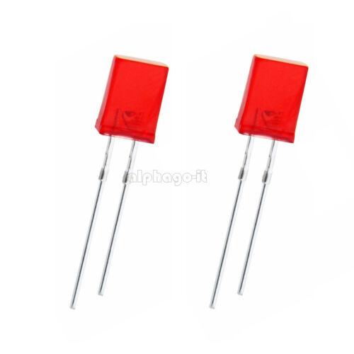 30Stks  2Pin 2*5*7mm  2x5x7MM Square Red Light LED Diode LED Lamp Bulb