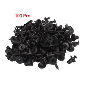 100-Pcs-Plastique-Rivets-de-fixations-de-type-poussoir-Clips-d-039-aile-7mm-Dia-WT