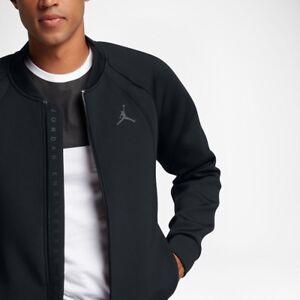 f4f8977bbd02b2 Image is loading Nike-Jordan-Lifestyle-Flight-Tech-Jacket-Black-Medium-