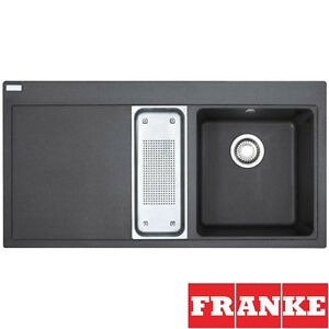 Fitting Franke Sink : Franke Mythos 1.5 Bowl Onyx Black Granite Kitchen Sink & Waste MTG651 ...