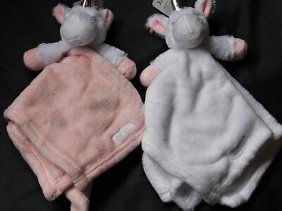 2019 New Style Baby Girl Super Soft Unicorn Comfort Blanket 2 Colours Size 36 X 36cm