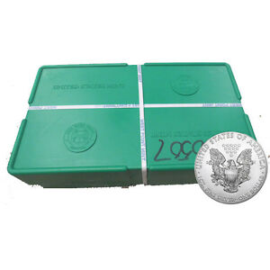 '500 Silver American Eagle 1oz Coins Sealed - US Mint Sealed Monster Box' from the web at 'https://i.ebayimg.com/images/g/8lsAAOSwqfNXn00s/s-l300.jpg'