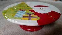 Gatesware Christmas Santa Pedestal Cake Plate,
