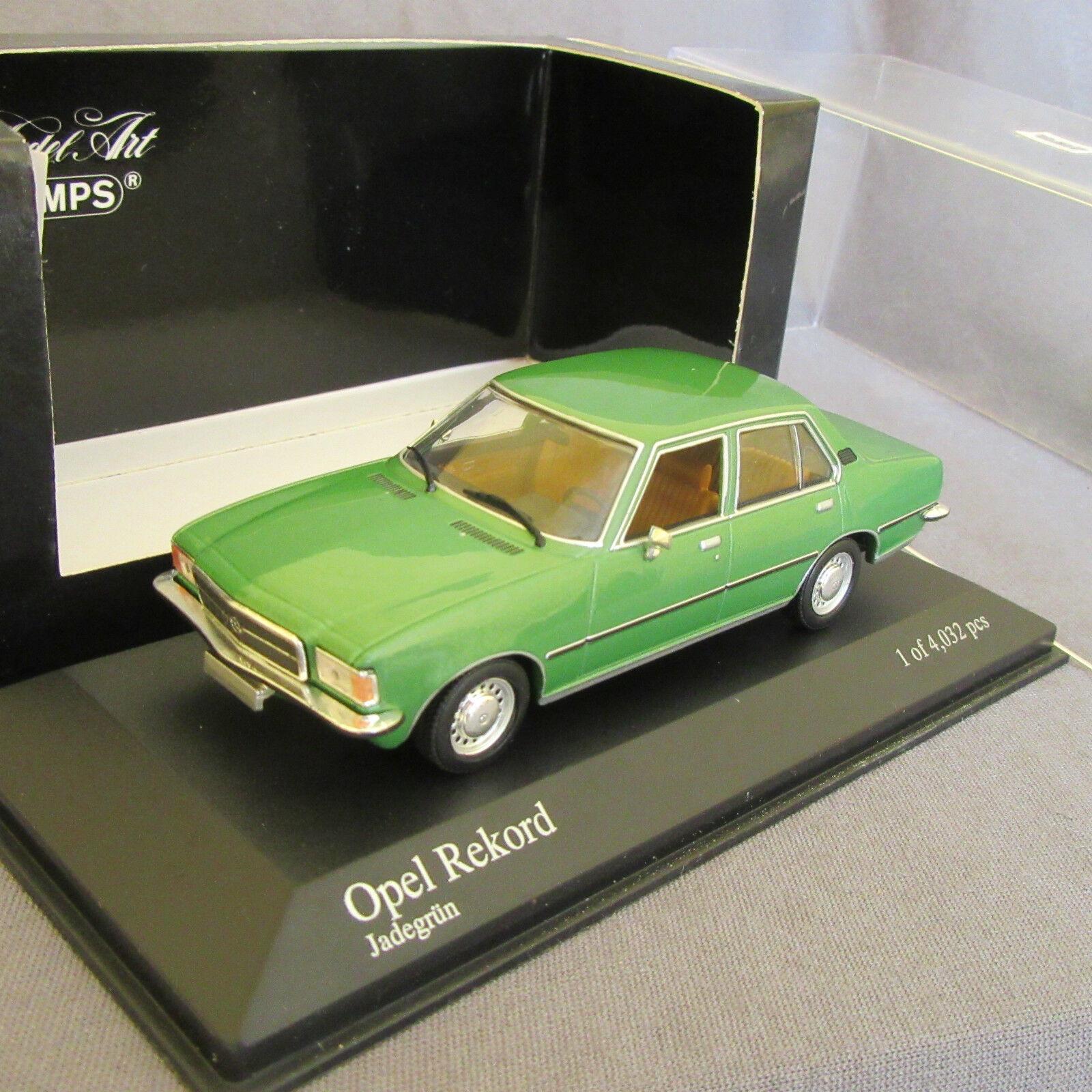 952D Minichamps OPEL Rekord d Salon 1975 grün 1 43  | Günstigstes
