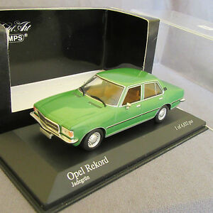 952D-Minichamps-Opel-Rekord-D-Saloon-1975-Green-1-43