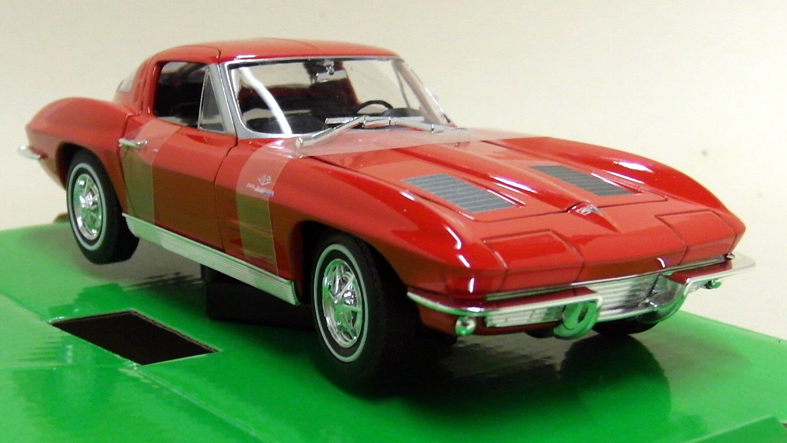 Nex 1 24-27 Scale 1963 Chevrolet Corvette C2 Coupe Red Red Red Diecast Model Car 1ed3ff