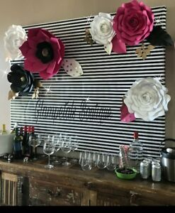 kate spade custom hand made paper flower party backdrop event