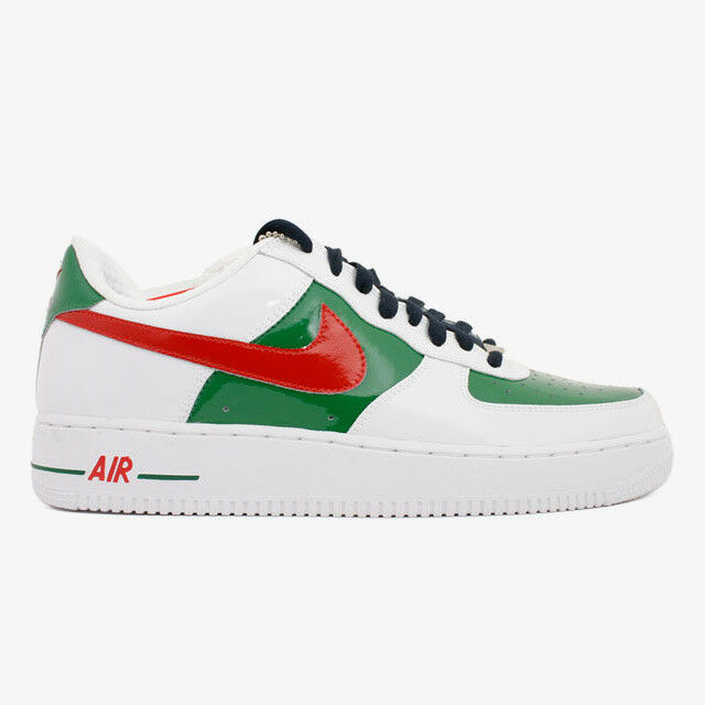 NIKE AIR FORCE 1 PREMIUM MEXICO 309096-162 WHITE/SPORT RED-PINE GREEN-OBS