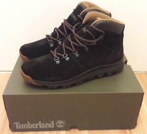 Details zu Timberland World Hiker Mid black Größe 44,5 (NEU + OVP) Stiefel Boots schwarz