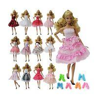 Zita Element 5pcs Fashion Mini Summer Barbie Dress+5 Shoes For ... Free Shipping