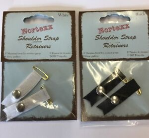 Bra Strap Retainer Came Catch One Pair Black Or White
