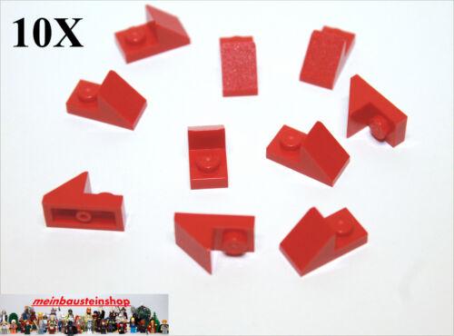 LEGO Bausteine & Bauzubehör 10X Lego® 92946 Dachsteine 45° 1X2 mit 2/3 Ausschnitt Rot Red NEU LEGO Bau- & Konstruktionsspielzeug