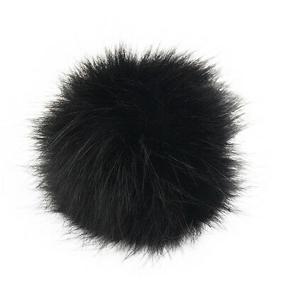 DIY 12Pcs 10cm Faux Fox Fur Pom Pom Ball for Key Chain Phone Car Bag Charm