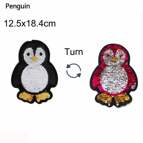 pflaster schmetterling paillette applique pinguin reversible farbe pailletten