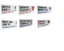 FOOTBALL - STREET SIGN (Metal Door Sign){14 Clubs} Official Club Merchandise