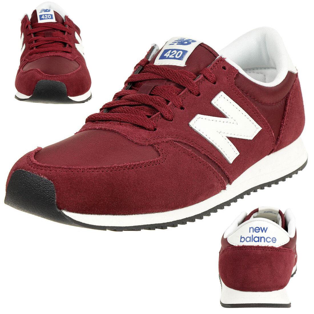 New Balance U420 Rdw Classic Zapatillas Deportivas para Hombres Zapatos Rojo