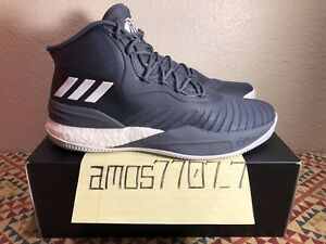 buy online 9e9c9 7c93c Image is loading Adidas-D-Rose-8-Boost-Derrick-Onix-Grey-