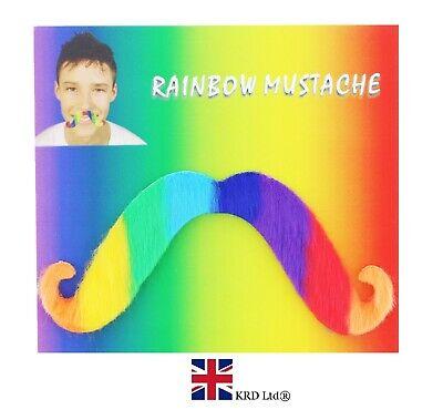 Rigoroso Autoadesivo Rainbow Baffi Barba Finta Lgbt Gay Pride Accessori Regno Unito-mostra Il Titolo Originale Prestazioni Affidabili