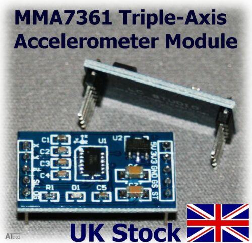Mma7361 De 3 Ejes acelerómetro ángulo de inclinación Sensor Arduino Raspberry Pi-Reino Unido Stock