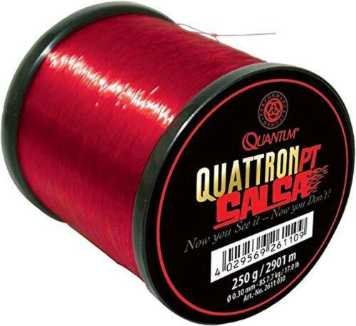 Quantum Quattron Salsa Large Reel Transparent Red One Size