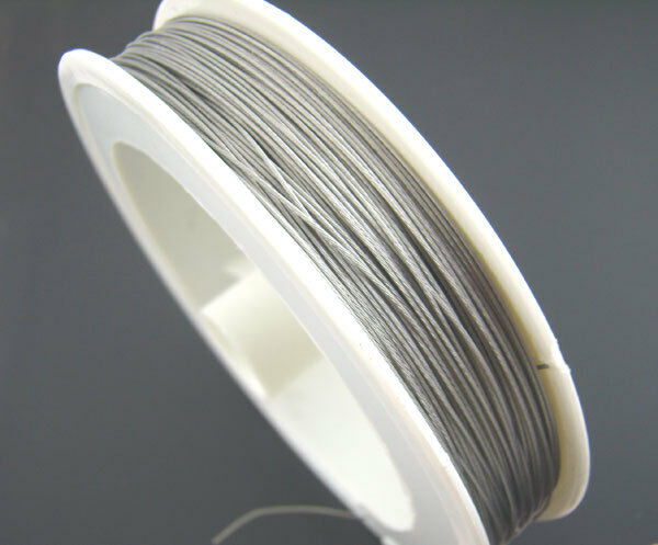 1Roll 70M Silver Tone Beading Wire 0.3MM