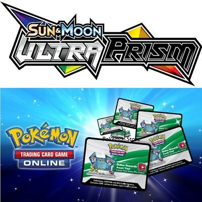 100 Ultra Prism Codes Pokemon Sun /& Moon  TCG Online Booster sent IN GAME FAST!