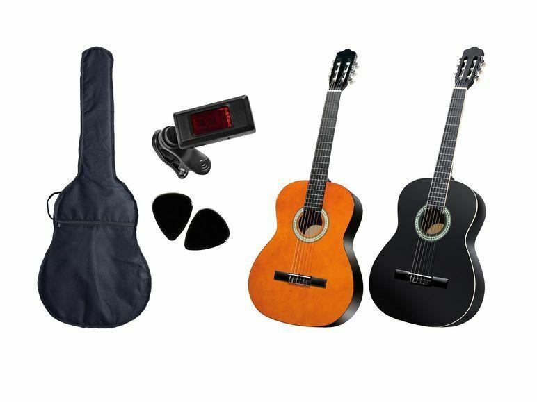 Konzertgitarre 4 4 Sheffield Klassikgitarre Schülergitarre Gitarre 6-teilig NEU