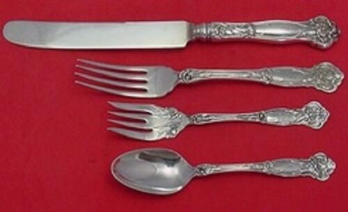 4pc Carnation by Wallace Sterling Silver Dinner Size Setting s