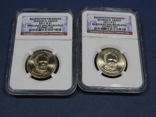 2011 P D  Ulysses S Grant Presidential Dollar NGC Brilliant Uncirculated