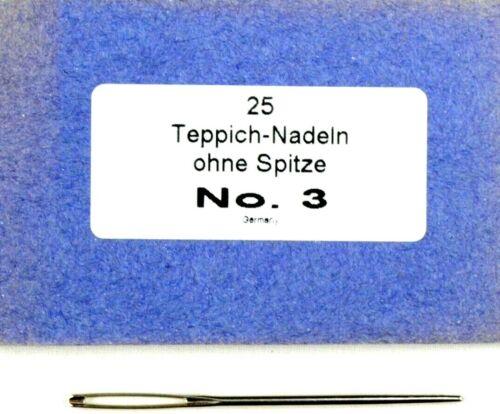 25 agujas de alfombra nº 3 sin punta