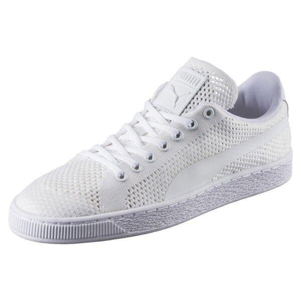 Puma Classic Evoknit White Sneakers Mens US 10.5 BNIB