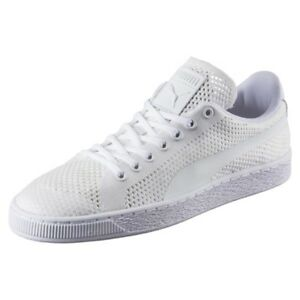 Puma-Classic-Evoknit-White-Sneakers-Mens-US-10-5-BNIB-UK-9-5-EUR-44