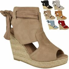416188e645f item 4 New Womens Ladies Wedge Ankle Lace Tie Up High Heel Summer Sandals  Platform Size -New Womens Ladies Wedge Ankle Lace Tie Up High Heel Summer  Sandals ...