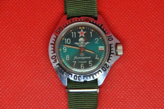 Vintage Soviet Vostok Zakaz MO UDSSR Komandirskie VDV Fallschirmjäger Uhr, 2414a