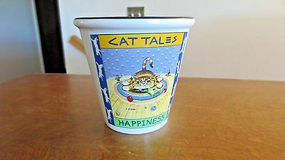 1998 Gary Patterson by Westwood Planter Vase-Cat Tales Happiness of Smiles