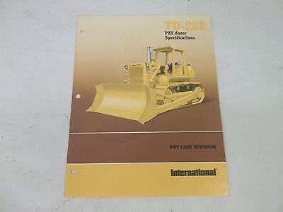 International Harvester TD20E Pay Dozer Specifications Brochure | eBay