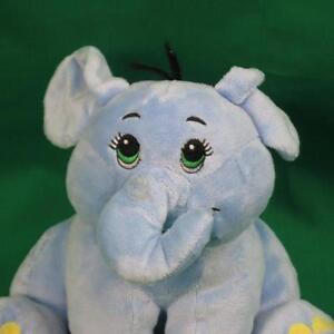 Fiesta Toy Embroidered Baby Boy Blue Elephant Rattle Plush Stuffed