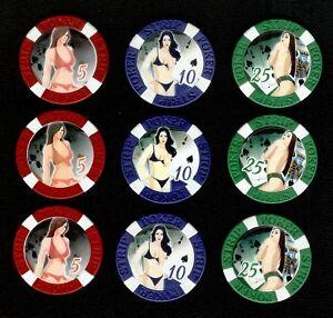 Naked poker chips