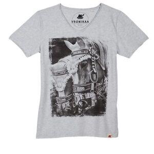 """Graumeliert Größe Motiv Shirt """"pferde"""" S Herren Foto Siehe Xqzf4Hwf"""