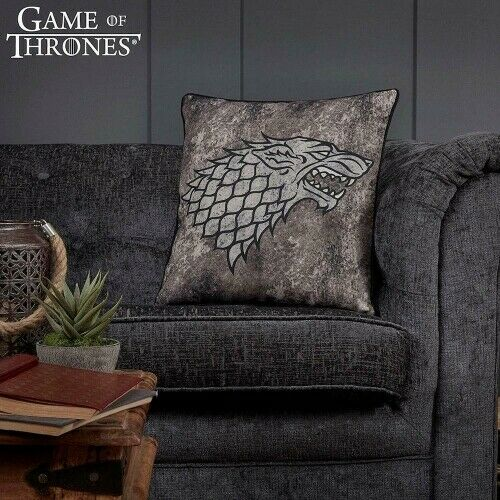 HBO Game of Thrones Coussin Westeros Map Lannister House Stark Targaryen Cadeau